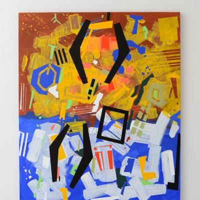 Scatter Painting di Lucio Pozzi